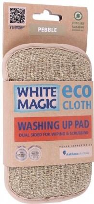 White Magic Washing Up Pad Pebble - 15x8cm