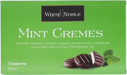 White & Noble Mint Cremes Chocolate  150g Box APR21
