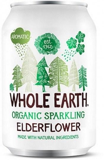 Whole Earth Drink Lightly Sparkling Elderflower Organic 330mL