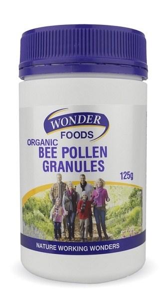 Wonderfoods Bee Pollen Granules Organic 125g