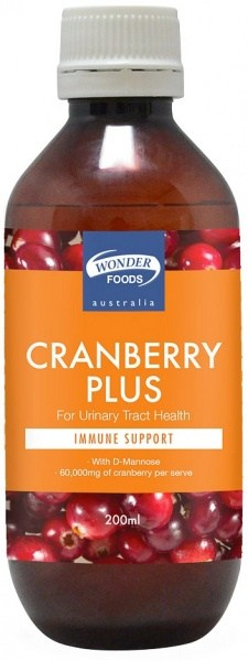 Wonderfoods Cranberry Plus 200ml
