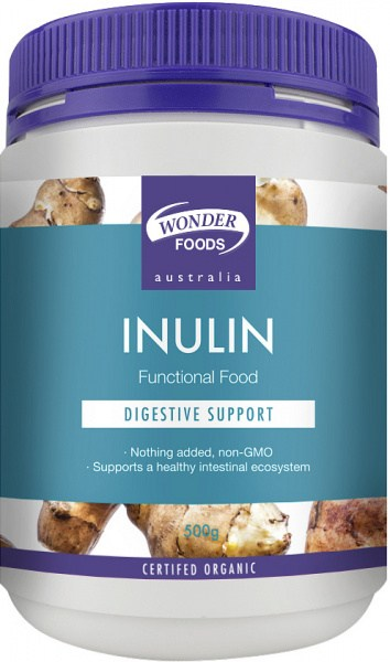 Wonderfoods Inulin 500g Organic