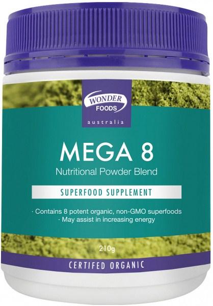 Wonderfoods Mega8 Superfoods Organic 210g