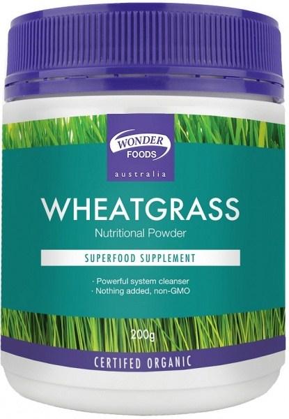 Wonderfoods Wheatgrass 200g (Org)