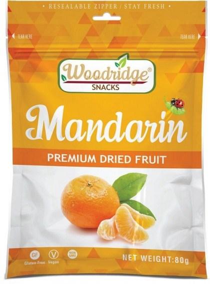 Woodridge Snacks Dried Fruit Mandarin  80g