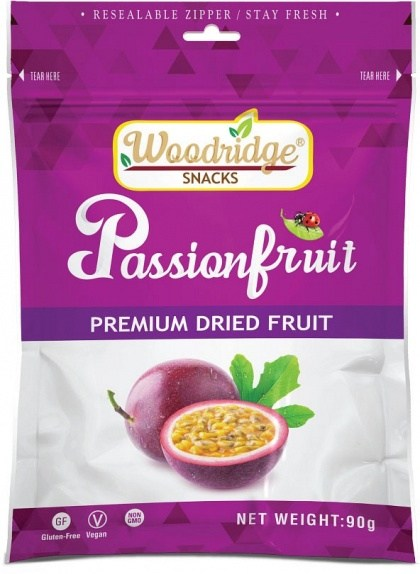 Woodridge Snacks Dried Fruit Passionfruit  90g