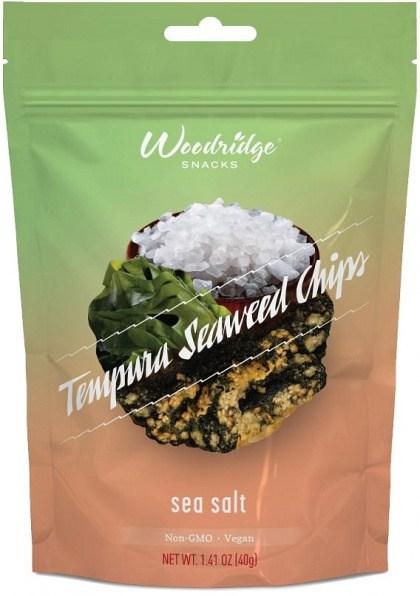Woodridge Tempura Seaweed Chips Sea Salt 40g