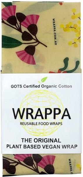 WRAPPA Organic Cotton Reusable Plant Based Jumbo Single Food Wrap Birds & Bees