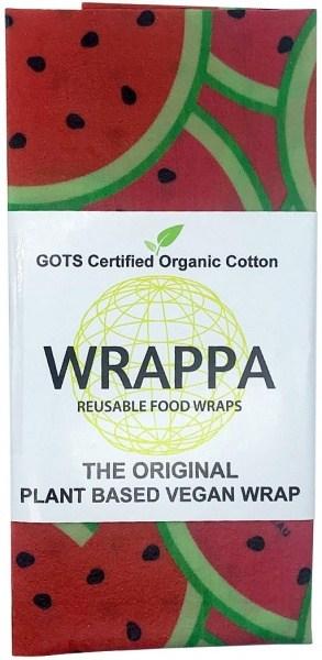 WRAPPA Organic Cotton Reusable Plant Based Jumbo Single Food Wrap Watermelon