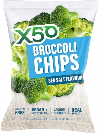 X50 Broccoli Chips Sea Salt  Vegan 60g