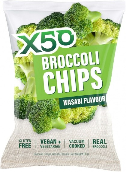X50 Broccoli Chips Wasabi  Vegan 10x60g