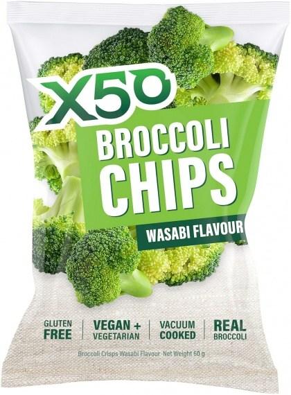 X50 Broccoli Chips Wasabi  Vegan 60g