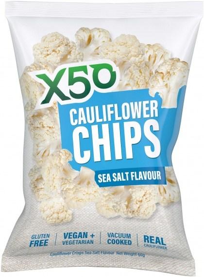X50 Cauliflower Chips Sea Salt  10x60g