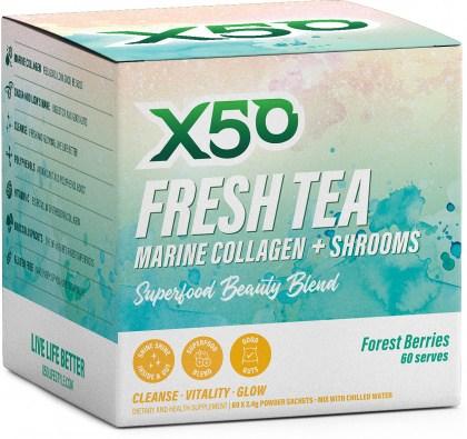 X50 Fresh Tea - Forest Berries  60 x 2.4g Sachets