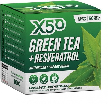 X50 Green Tea + Resveratol Original 60 Sachets