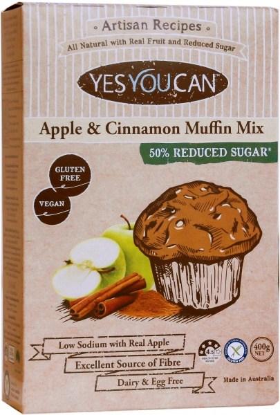 YesYouCan Artisan Apple & Cinnamon Muffin Mix  400g
