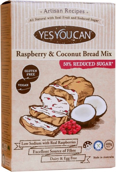 YesYouCan Artisan Raspberry & Coconut Bread Mix  400g