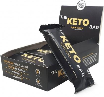Yours Truly The Keto Bars Lemon Cashew  8x40g