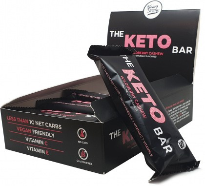 Yours Truly The Keto Bars Wildberry Cashew  8x40g