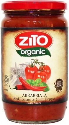 Zito Pasta Sauce Arrabiatta Tomato & Chilli 690g