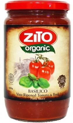 Zito Pasta Sauce Basilico Tomato/Basil 690g