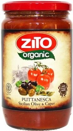 Zito Pasta Sauce Puttanesca Olive & Caper 690g