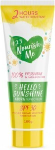 123 Nourish Me Hello Sunshine Sunscreen 100g