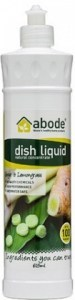 Abode Dish Liquid Ginger & Lemongrass 600ml squirt cap