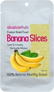 Absolute Fruitz Freeze Dried Banana Slices 18g