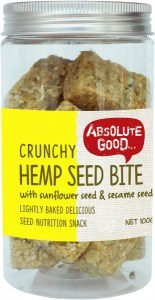 Absolute Good Crunchy Hemp Seed Bar with Sunflower Seeds 100g