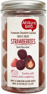 Absolute Good Dark Choc Coated Strawberries With Raspberry 120g