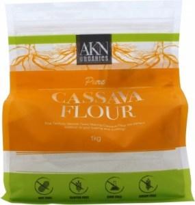 AKN Organics Pure Cassava Flour G/F 1Kg