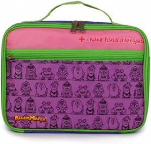 AllerMates Allergy Alert Lunch Bag Purple