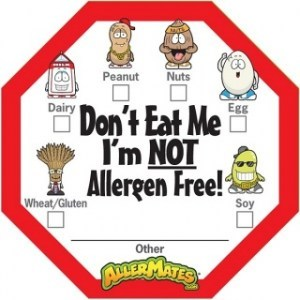 AllerMates Dont Eat Me Im Not Allergen Free with Checkboxes - 24 Pack Labels