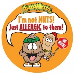 AllerMates Im Not Nuts Just Allergic To Them Stickers - 24 Pack