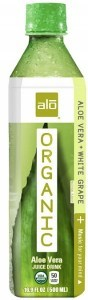 Alo Organic Aloe Vera + White Grape 12x500ml