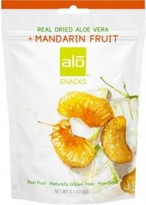 Alo Snacks Dried Aloe Vera & Mandarin  60g