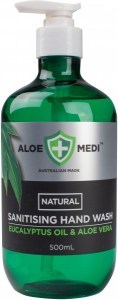 Aloe + Medi  Natural Sanitising Hand Wash Eucalyptus Oil & Aloe Vera 500ml