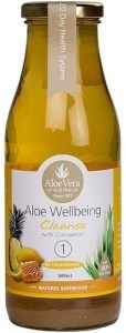 Aloe Wellbeing Cleanser Juice - Lemon, Honey, Pineapple & Cinnamon 500ml