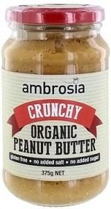 Ambrosia Organic Crunchy Peanut Butter 375g