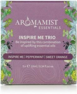 Aromamist Essentials Inspire Me Trio (Inspire Me, Peppermint, Sweet Orange)