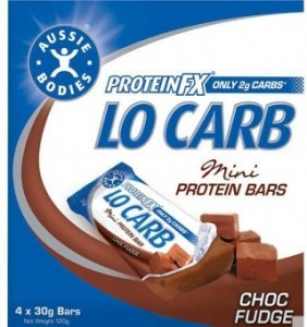 Aussie Bodies Lo Carb Mini Multi-pk ChocFudge 4x30g FEB19