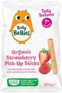 Baby Bellies Organic Strawberry Pick-Up Sticks 16g