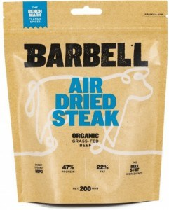 Barbell Benchmark Classic Spice Air Dried Steak Biltong Organic 200g