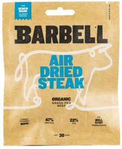 Barbell Benchmark Classic Spice Air Dried Steak Biltong Organic 30g