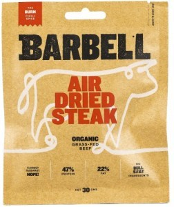 Barbell Burn Chilli Spice Air Dried Steak Biltong Organic 30g