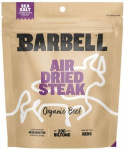 Barbell Burn Sea Salt Air Dried Steak Biltong Organic  200g