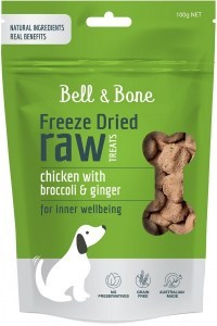 Bell & Bone Freeze Dried Dog Treats Chicken 100g