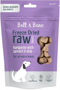 Bell & Bone Freeze Dried Dog Treats Kangaroo 100g