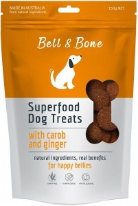 Bell & Bone Superfood Dog Treats with Carob & Ginger 150g